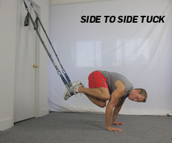 Side to Side Tuck using Suspension Training System