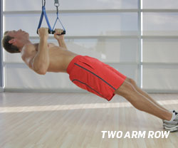Two Arm Row using Suspension Trainer