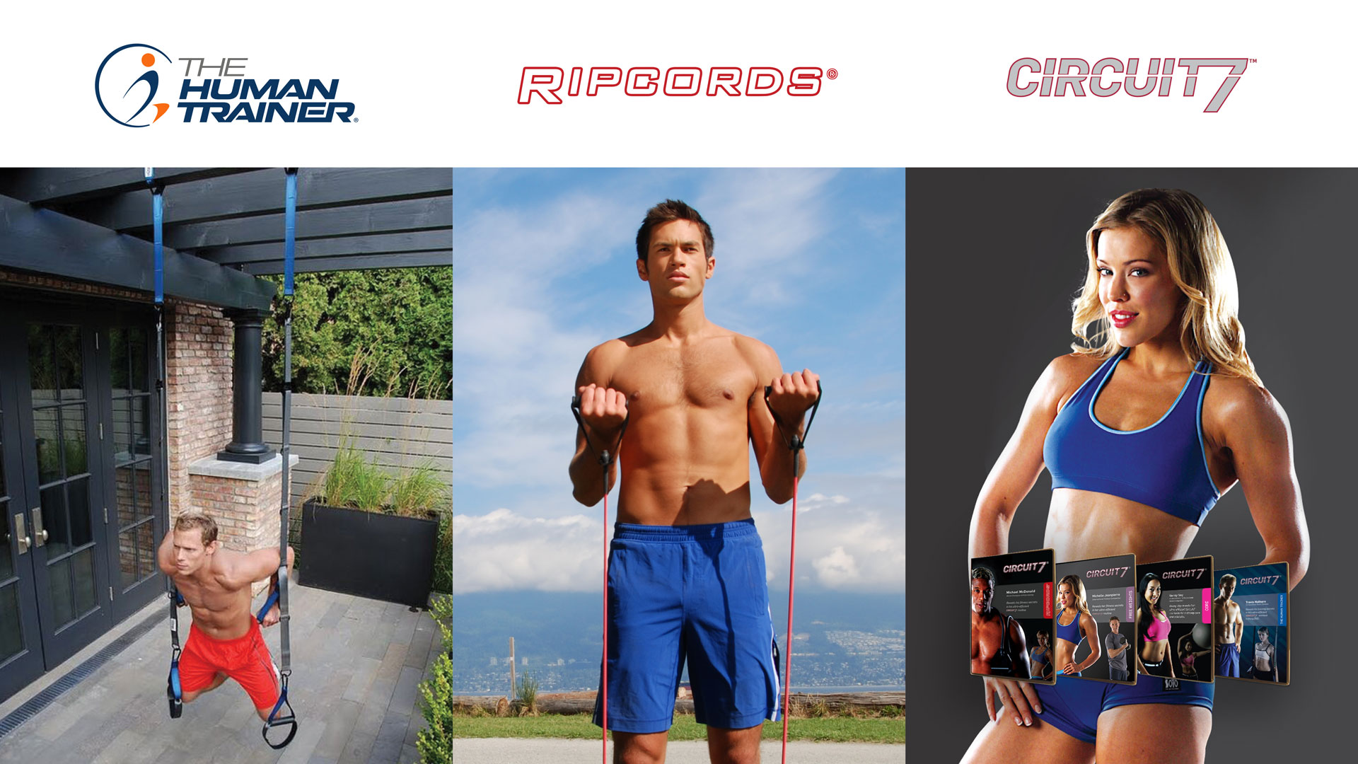 The Human Trainer Shop Banner, Ripcords and Circuit 7 DVD Workouts