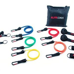 Elite Cords 5 Pack Resistance Band Clip Cords.