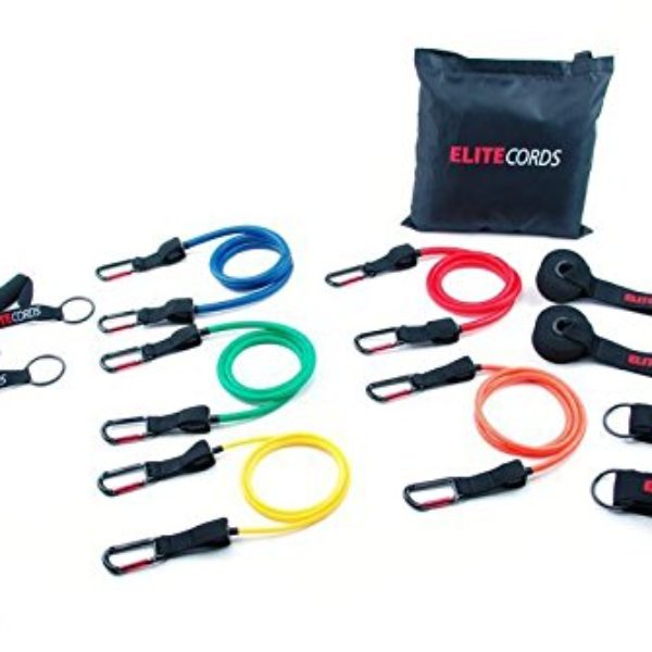 Elite Cords 5 Pack Resistance Band Clip Cords.