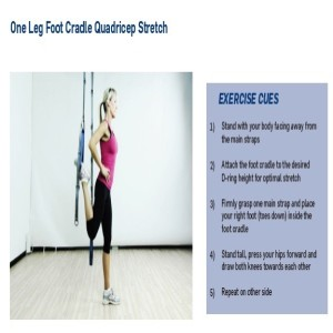 The Human Trainer One Leg Quad Stretch builds balance and flexibility to help prevent injuries.