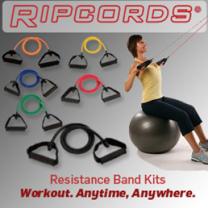 Ripcords Resistance Band. Workout Anytime, Anywhere