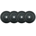 Bumper Plates are the optimal accessory weight to be attached to Hex Bars and Flat Bars to build strength and conditioning.