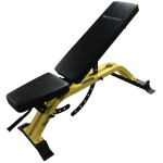 The Flat / Incline Training Bench is a commercial grade exercise band with a separate seat and back rest and has built in wheels and handles for easy moving. This is an ideal bench for a home gym or a commercial fitness facility.