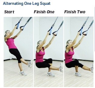 alternating one leg squat