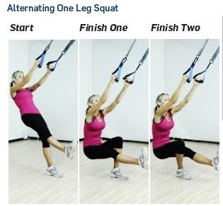 alternating one leg squat
